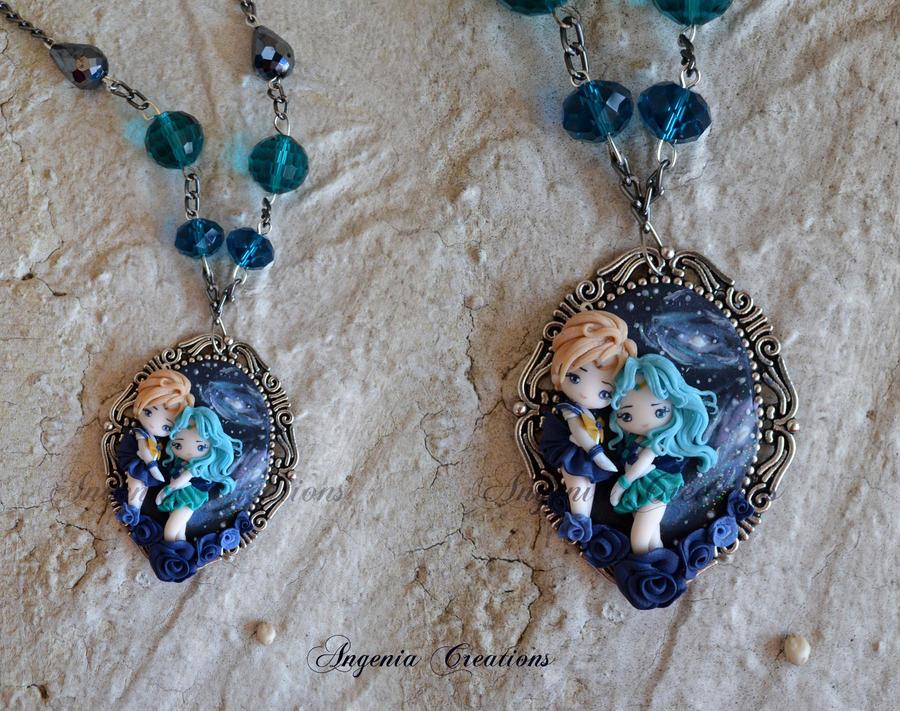 cameo sailor Neptune and  Uranus by AngeniaC