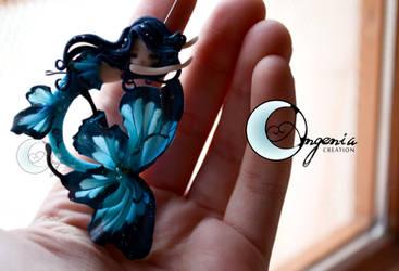 mermaid butterfly blue by AngeniaC