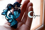 mermaid butterfly blue