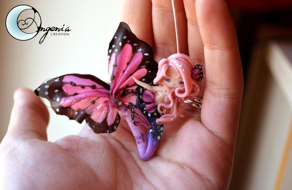 mermaid butterfly pink