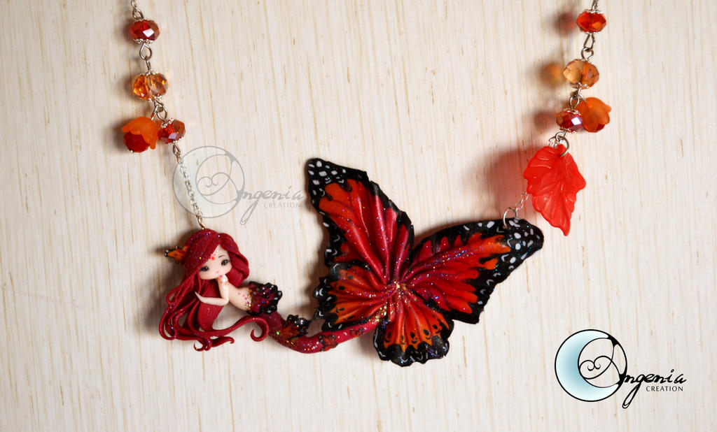 butterfly mermaid red