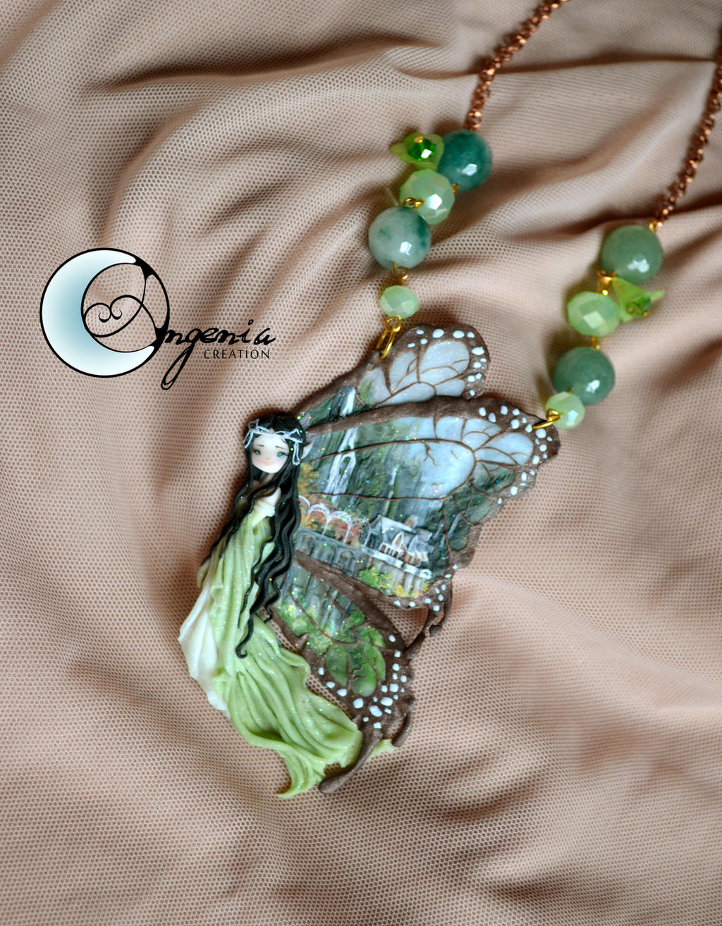 fairy necklace i have a dream rivendell by AngeniaC