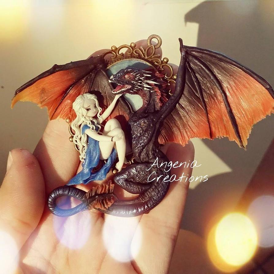 daenerys and drogon by AngeniaC