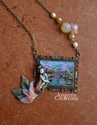 Japanese lily necklace by AngeniaC