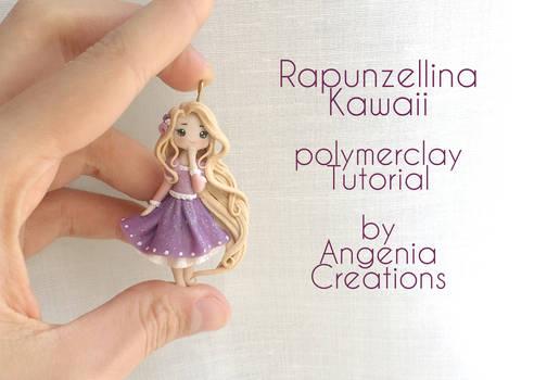 Rapunzel kawaii in polymerclay tutorial