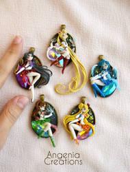 new sailor moon pendants by AngeniaC