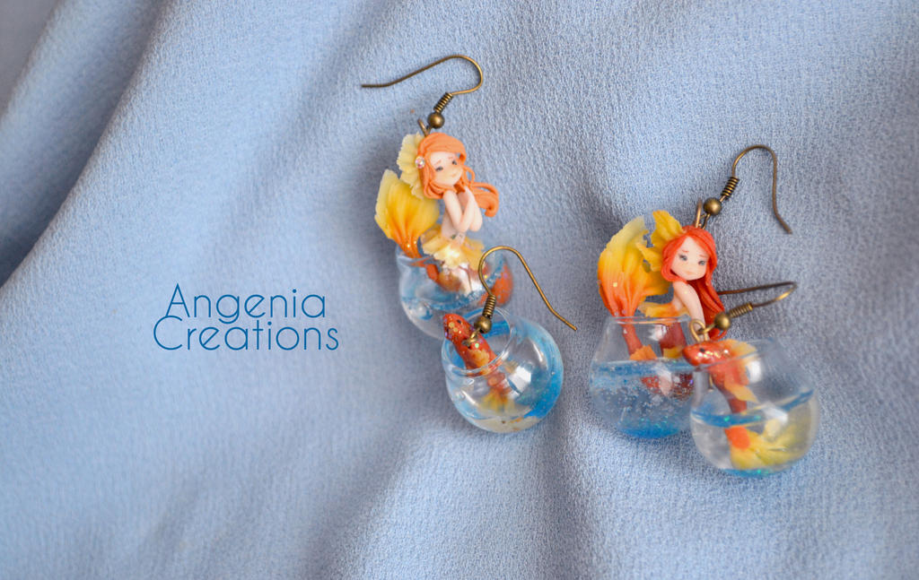 goldfish earrings by AngeniaC