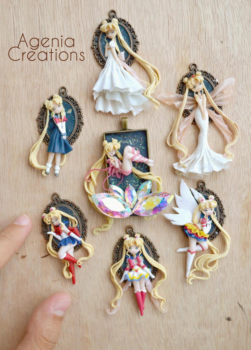 Sailor moon evolutions by AngeniaC