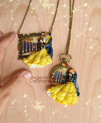 beauty and the beast handmade necklaces