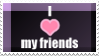 I heart my friends by Janlover