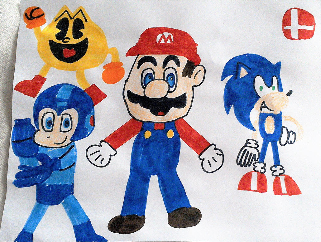 The 4 Mascots of Gaming by SuperSmash6453