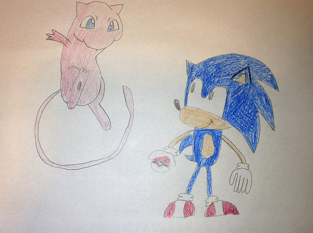 Sonic and Mew by SuperSmash6453