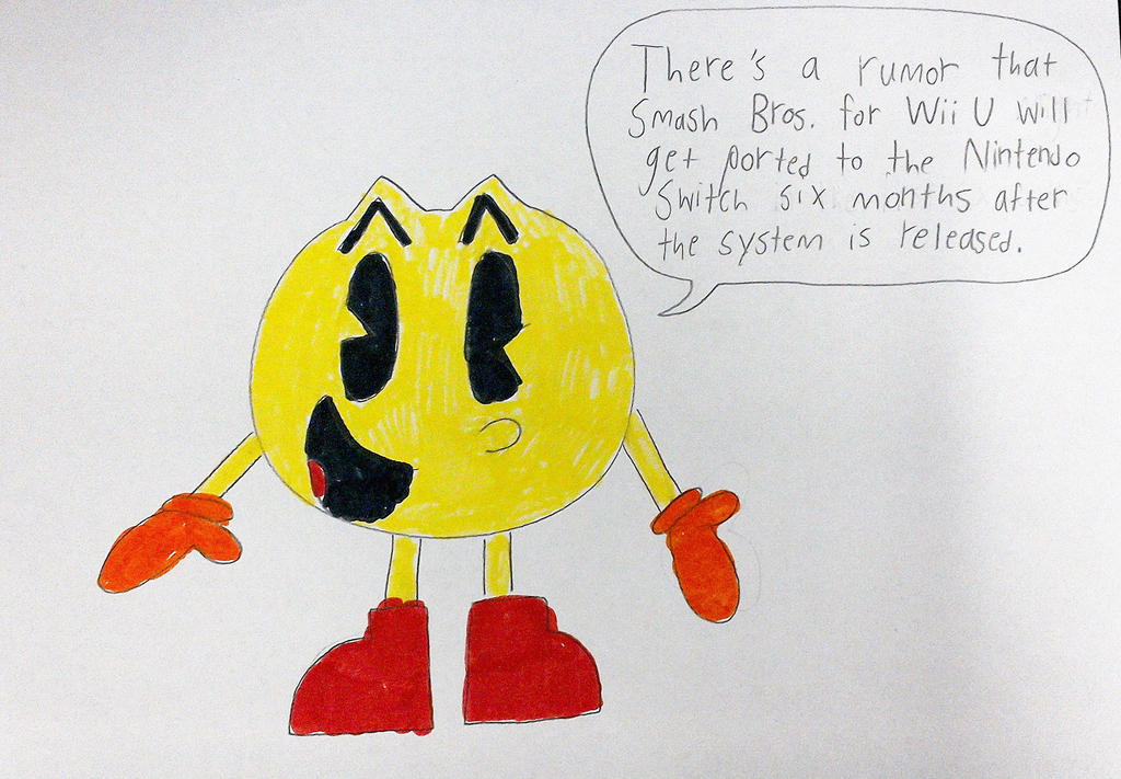 Pac-Man talks about Smash Bros. for Switch Rumor by SuperSmash6453