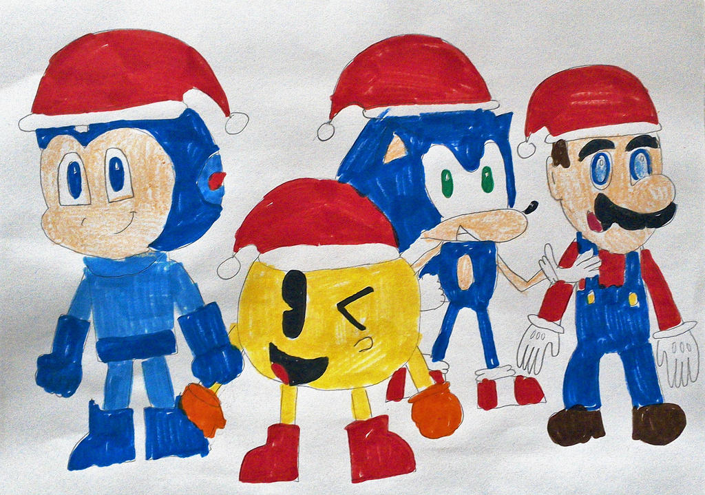 Mascot Christmas by SuperSmash6453