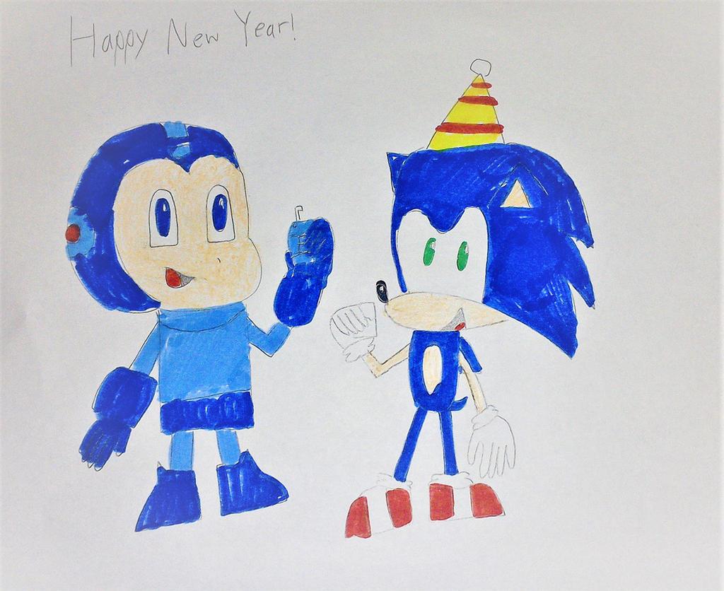Sonic and Mega Man New Year by SuperSmash6453