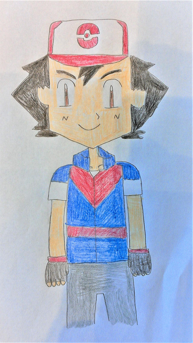 Ash Ketchum Gen 8 (Front View) by SuperSmash6453