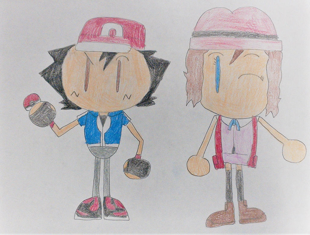 Ash and Serena Bomberman style by SuperSmash6453