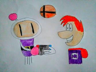 Rayman and Bomberman Smash Bros. Switch