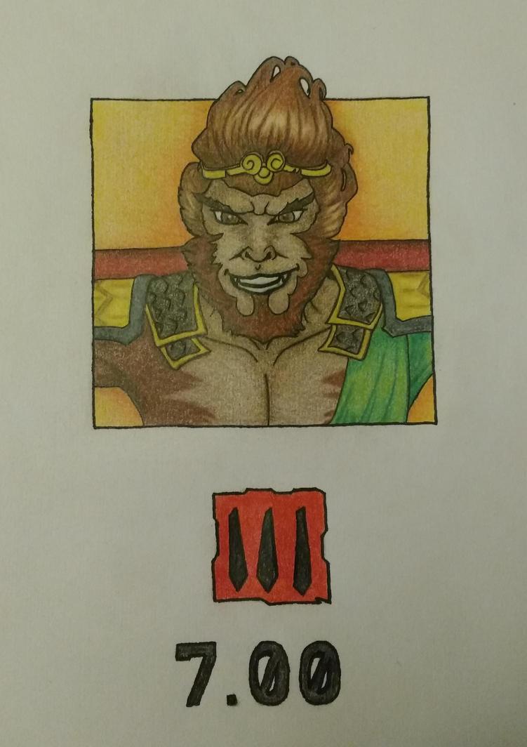 Monkey King - Dota2 (coloured) by NElondra