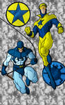 Blue Bettle and Booster Gold