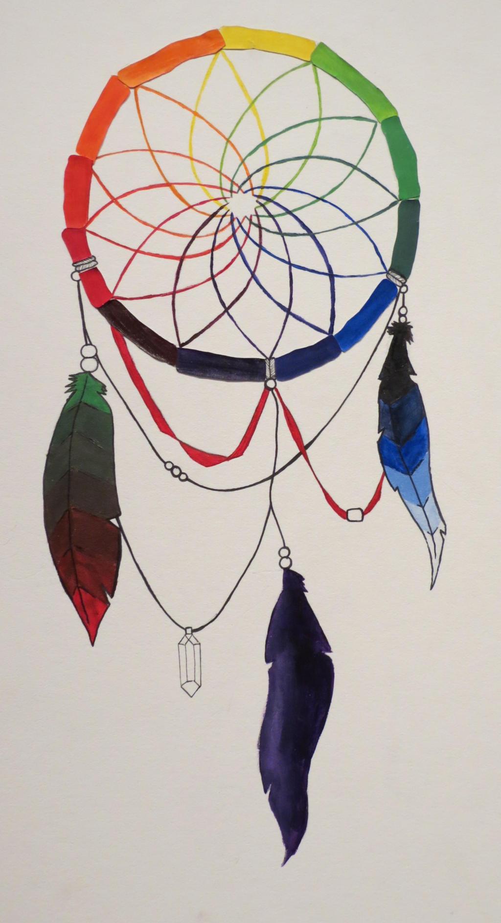Color art dreamcatcher - Dreamcatcher Color Wheel By Thenessymonster Dreamcatcher Color Wheel By Thenessymonster
