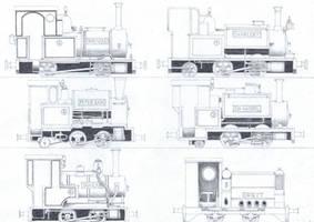 TTTE #5: The Narrow Gauge Engines by Blue-J-Art