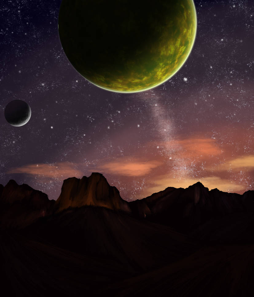 An Invisible Planet of Awesome Size