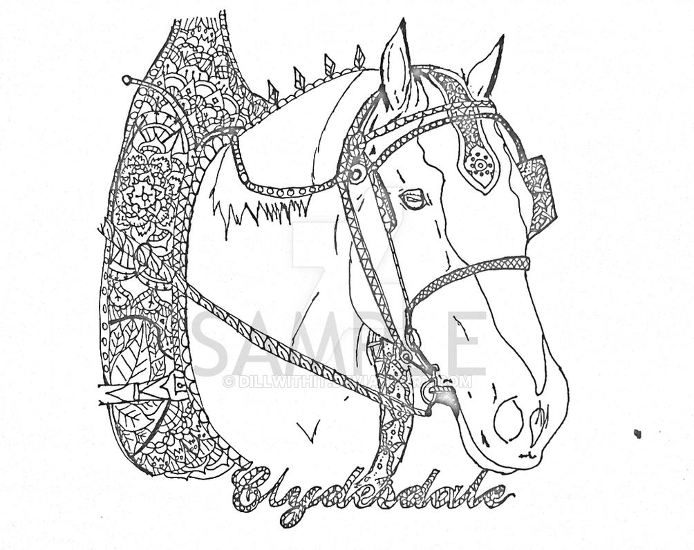 Clydesdale horse coloring pages ~ Clydesdale Horse Coloring Pages
