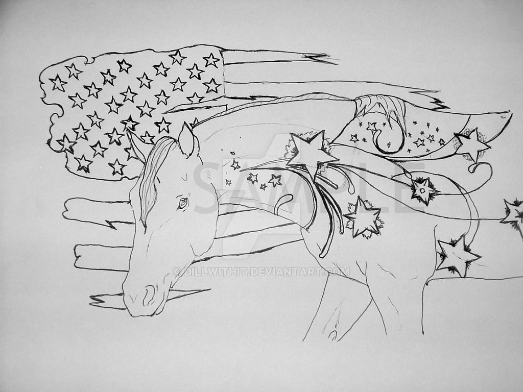 American Quarter Horse coloring page by dillwithit
