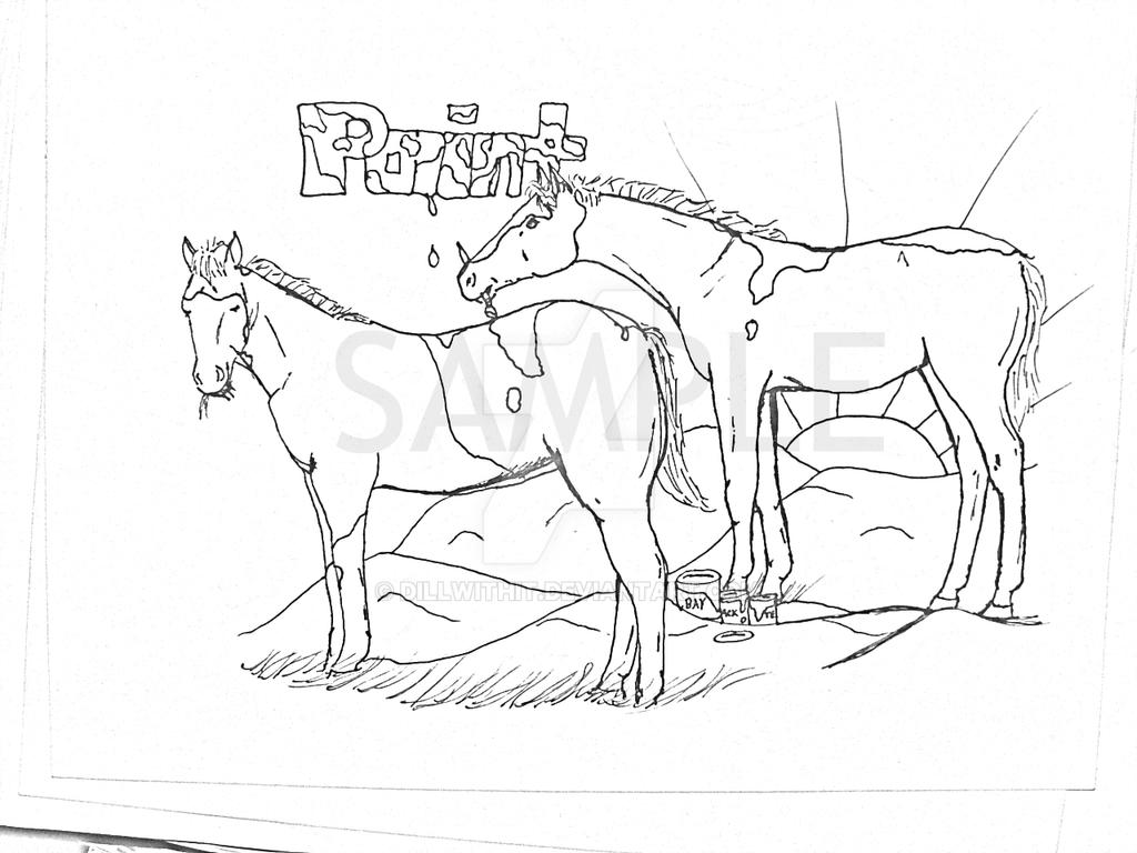 Paint Foals Coloring Page by dillwithit
