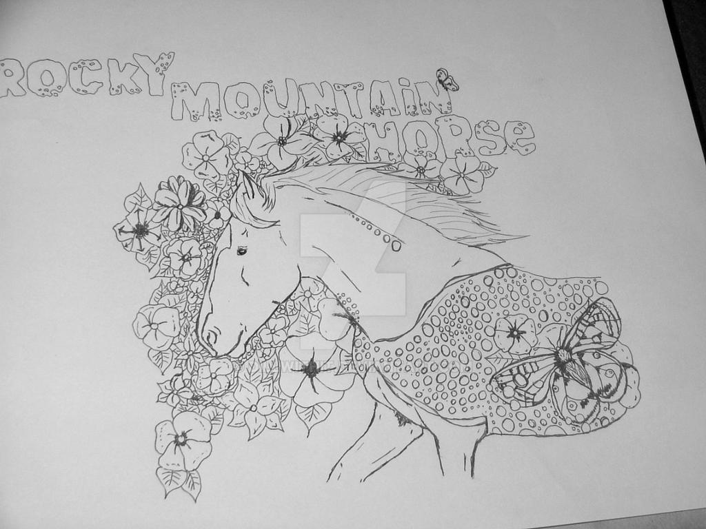 Rocky Mountain Horse Coloring Page by dillwithit
