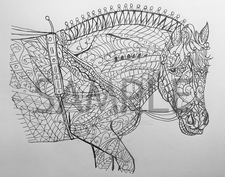 Haflinger Coloring Page by dillwithit