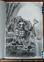 Sketchbook 01 - Panda Samourai by Canjoke