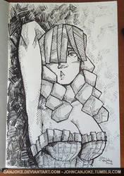 Sketchbook 03 - Courtesan by Canjoke