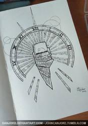 Sketchbook 04 - Space Traveler Emblem by Canjoke