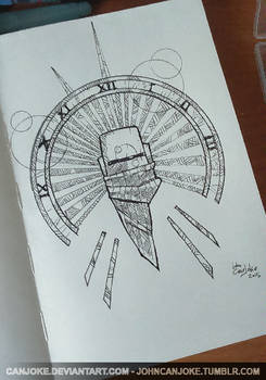 Sketchbook 04 - Space Traveler Emblem