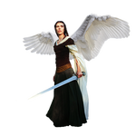 Angel with sword - png cutout