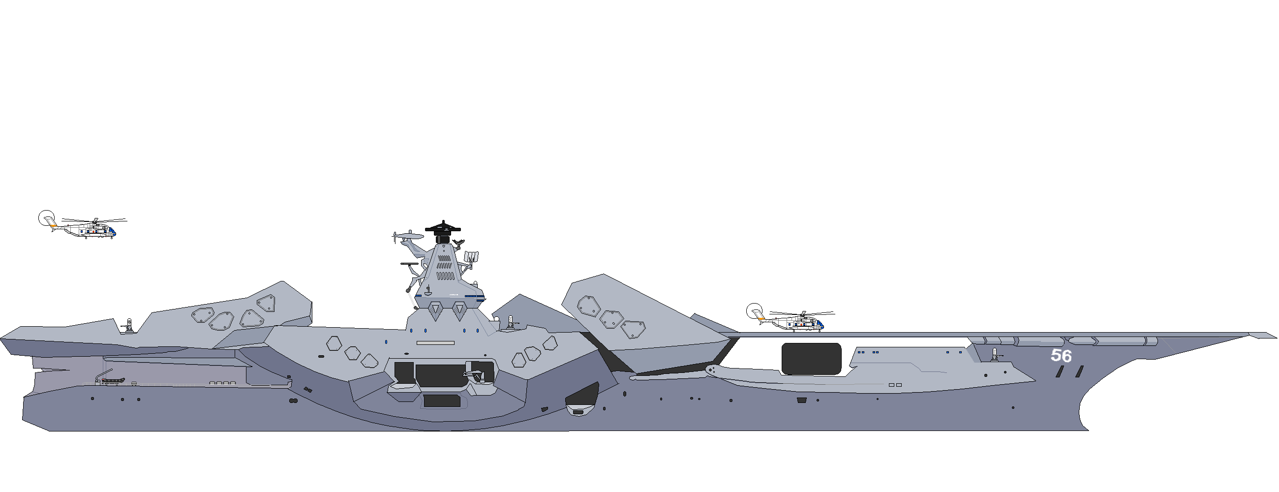 Some small changes and the stern is now almost finished i will start on the bow and the aircraft soon