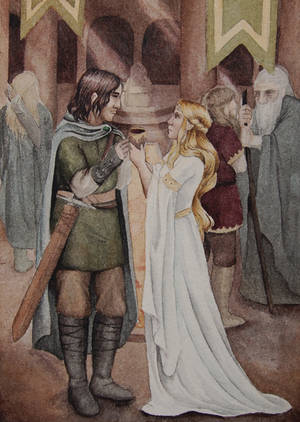 Aragorn and Eowyn by Lamorien