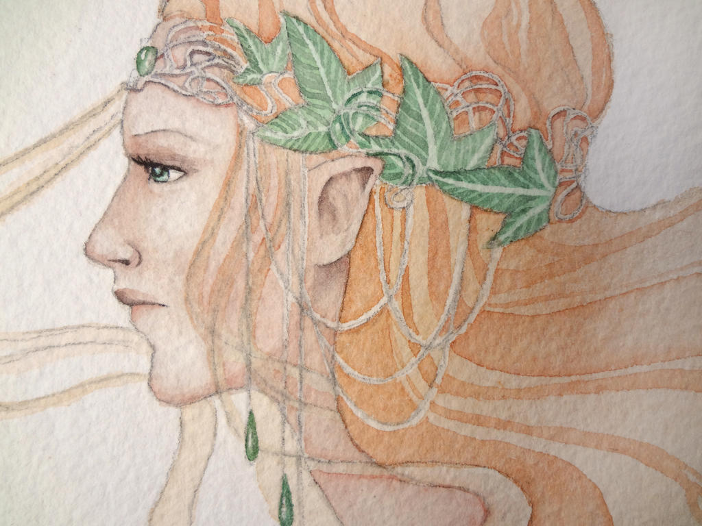 Lady of Lorien-Close-Up by Lamorien
