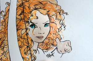 Merida with Bow by Lamorien