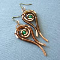 Aganippe earrings by szaranagayama