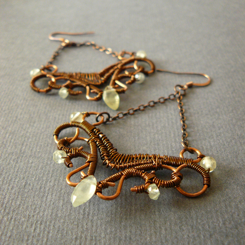 candelabrum earrings by szaranagayama