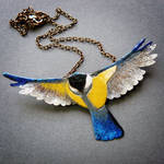 Great Tit necklace by szaranagayama
