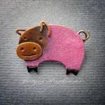 piggy brooch