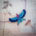 Lilac breasted roller necklace by szaranagayama