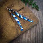 jay feather earrings