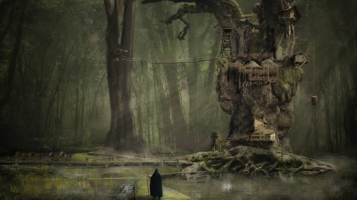 Swamp Village by hankep