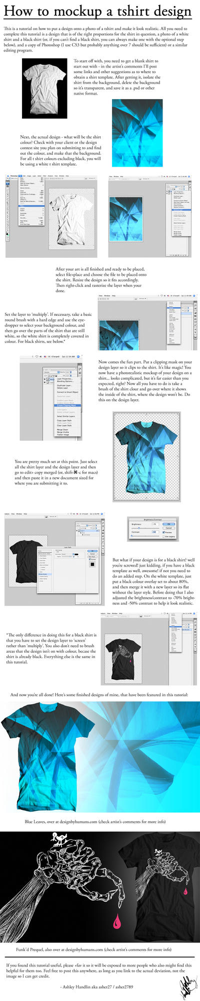 T shirt mockup tutorial by asher27
