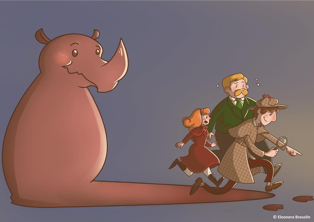 Sherlock Holmes E Il Caso Del Rinocernte Scomparso by Ciajka
